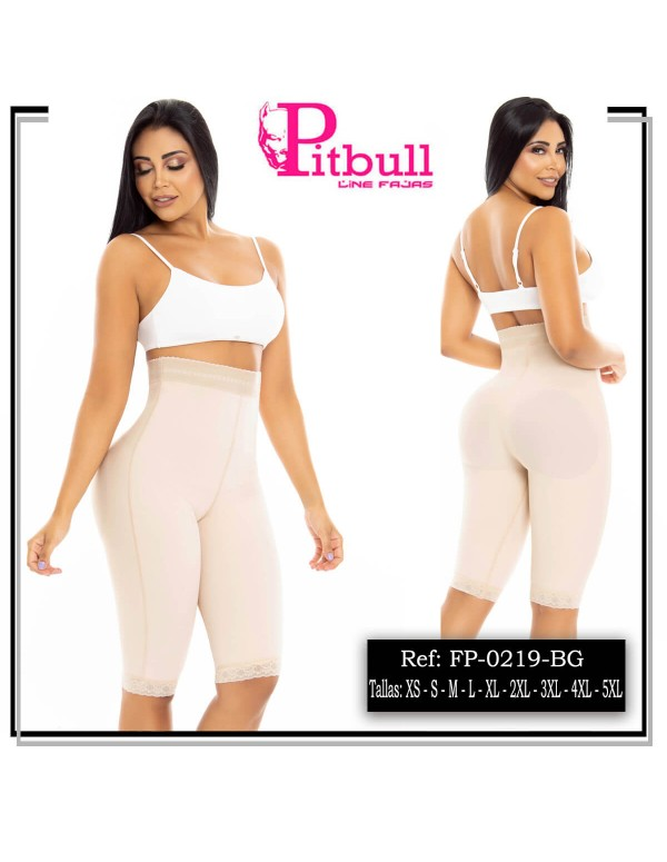 short reductor y realce pitbull beige fp0219