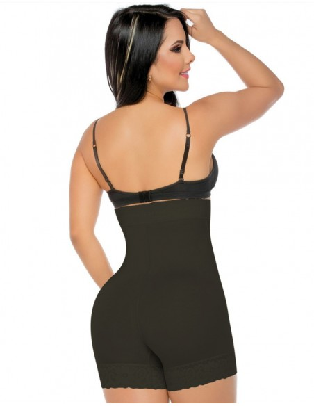 Faja Short levantacola negro con pretina alta trasera fs218-C